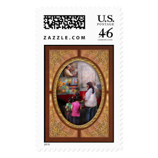 Americana - Serving chocolate ice cream Stamps
