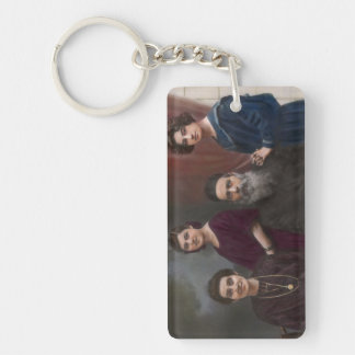 Americana - That old world charm Double-Sided Rectangular Acrylic Keychain