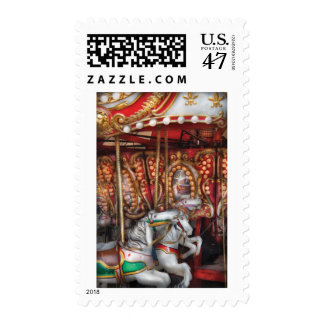 Americana - The Carousel Postage Stamp