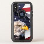 Americana Theme American Eagle OtterBox Defender iPhone X Case