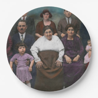 Americana - This is my family 1925 Paper Plate