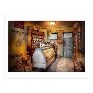 Americana - tienda - en los tenderos locales tarjeta postal