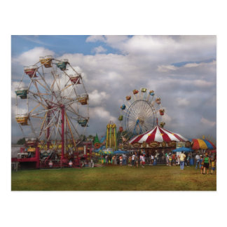 Americana - Traveling Carnival Postcard