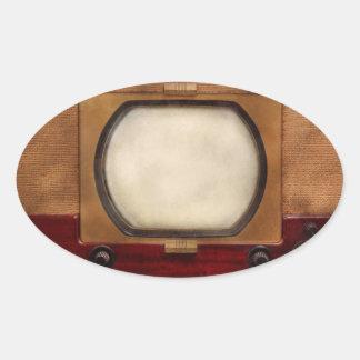Americana - TV - el nuevo incher 10 Pegatina Ovalada