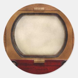 Americana - TV - el nuevo incher 10 Pegatina Redonda