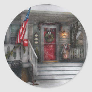 Americana - un tributo a Rockwell Pegatina Redonda