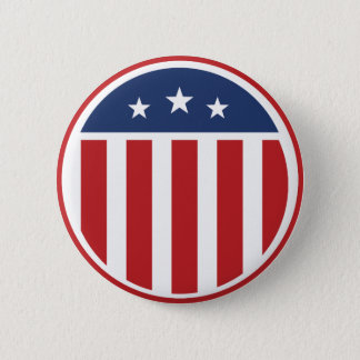 Americana. US Flag. Pinback Button