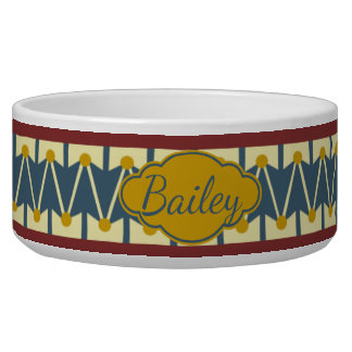 Americana Vintage Drum Personalized Bowl