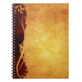 Americana;  Vintage Old School Series Spiral Notebook