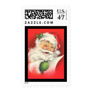 Americana Vintage Winking Santa Claus - Stamp