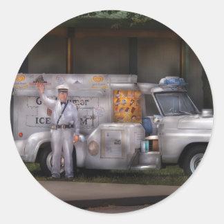 Americana - We sell Ice Cream Round Stickers
