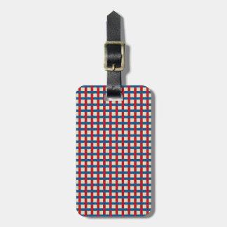Americana Weave Luggage Tag