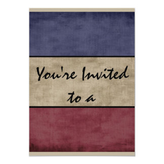 Americana You Are Invited To A Party Custom Card