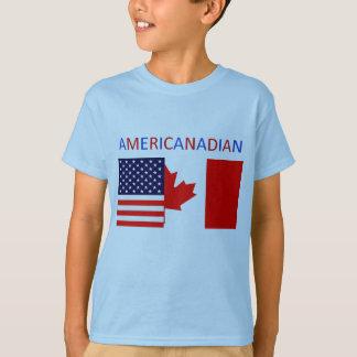 AMERICANADIAN 2 boys'  blue tee