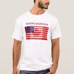 """AMERICANADIAN tee shirt<br><div class=""""desc"""">I designed this image for all the half and half American and Canadian couples and for those with dual citizen-ships in the USA and Canada. Hope you like it!</div>"""