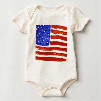 AmericanFlag Baby Bodysuit