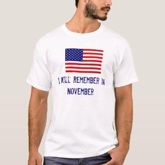 AmericanFlag, I Will Remember in November T-Shirt