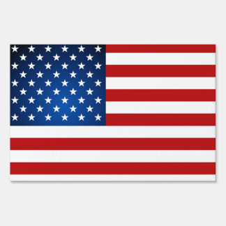 AmericanFlag Patriotic Double Sided Yard Sign