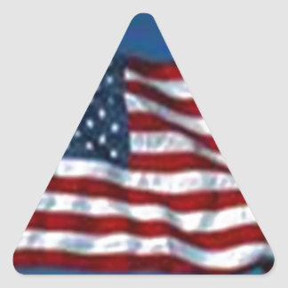 americanflag triangle sticker