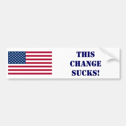 ¡americanflag.svg, este ChangeSucks! Pegatina Para Auto
