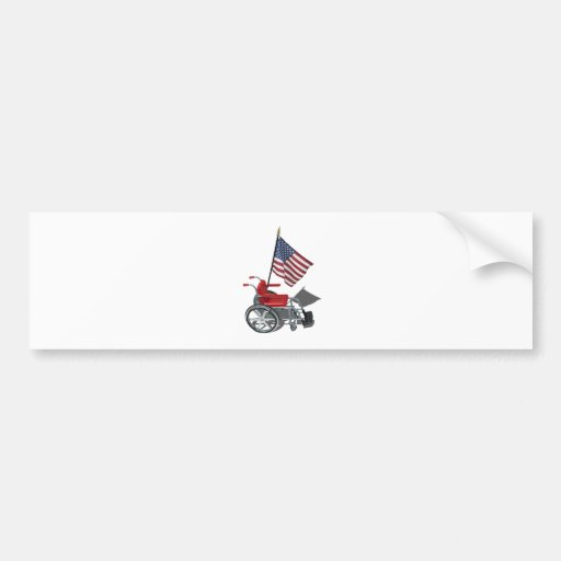 AmericanFlagWheelchair090912.png Bumper Stickers
