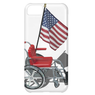 AmericanFlagWheelchair090912.png Cover For iPhone 5C