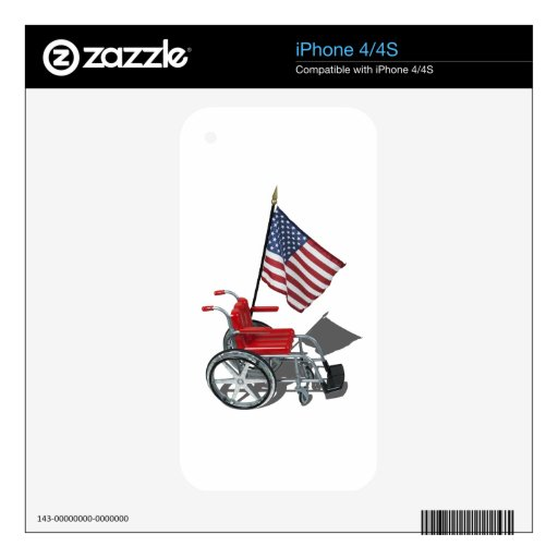 AmericanFlagWheelchair090912.png Skins For iPhone 4