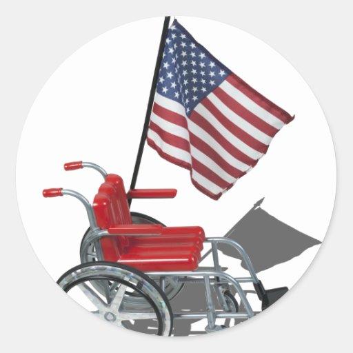 AmericanFlagWheelchair090912.png Sticker