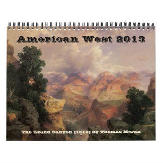 Americano 2013 de la bella arte del vintage del calendario de pared