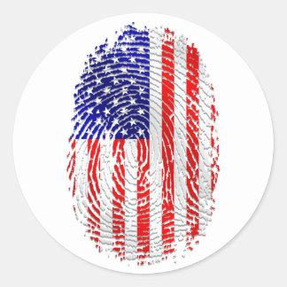 Americano abajo a mi orgullo de los E.E.U.U. de la Pegatina