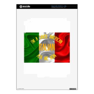 Americano ahorrado, italiano en letras del oro calcomanía para iPad 2