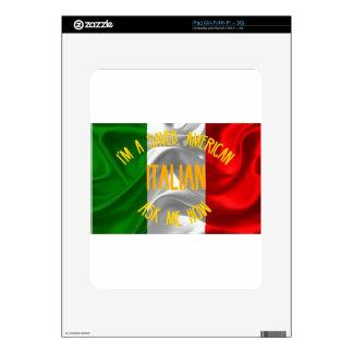 Americano ahorrado, italiano en letras del oro iPad calcomanía