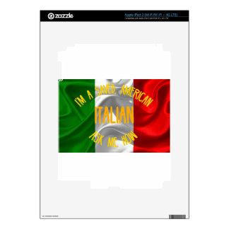 Americano ahorrado, italiano en letras del oro pegatina skin para iPad 3