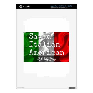 Americano ahorrado, italiano en negro y blanco pegatinas skins para iPad 3