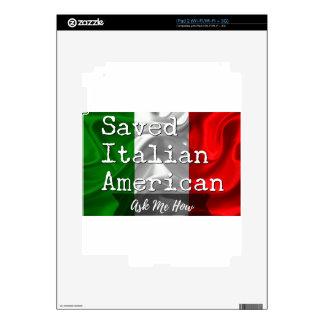 Americano ahorrado, italiano en negro y blanco skins para iPad 2