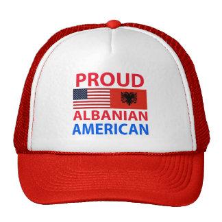 Americano albanés orgulloso gorro