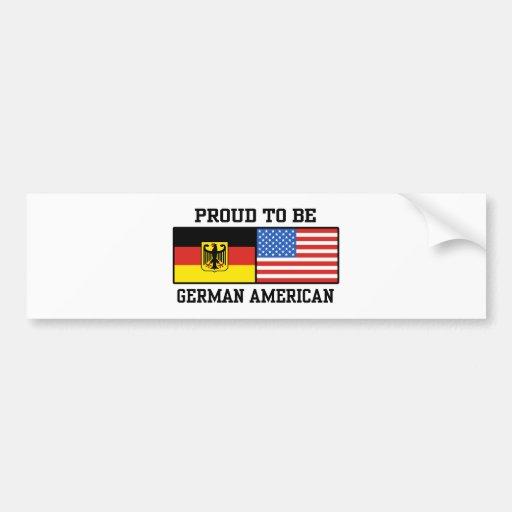 Americano alemán etiqueta de parachoque