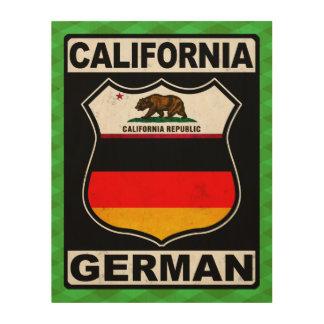 Americano alemán de California Impresión En Madera