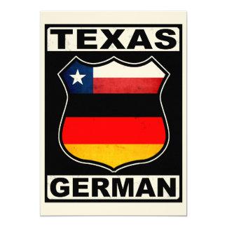 """Americano alemán de Tejas Invitación 5"""" X 7"""""""