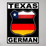 Americano alemán de Tejas Poster