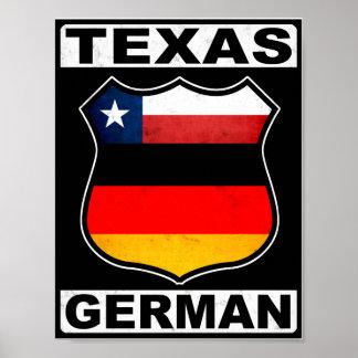 Americano alemán de Tejas Póster