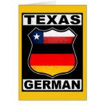 Americano alemán de Tejas Tarjeton