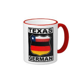 Americano alemán de Tejas Taza De Dos Colores