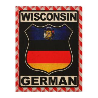 Americano alemán de Wisconsin Cuadro De Madera