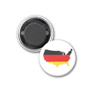 Americano alemán imán redondo 3 cm