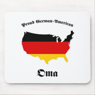 Americano alemán Oma - abuelita - abuela Alfombrilla De Ratón