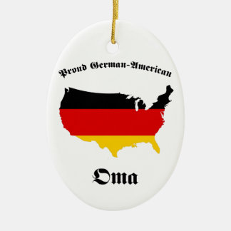 Americano alemán Oma - abuelita - abuela Ornatos