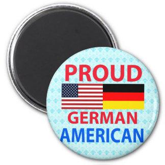 Americano alemán orgulloso imán para frigorifico