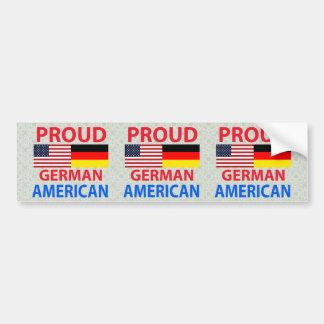 Americano alemán orgulloso pegatina para auto