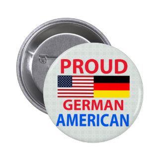 Americano alemán orgulloso pin redondo 5 cm